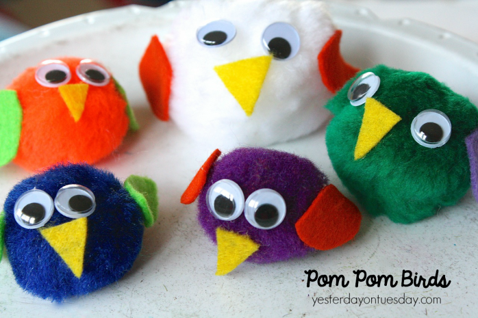 How to make pom pom birds, a cool kid's craft