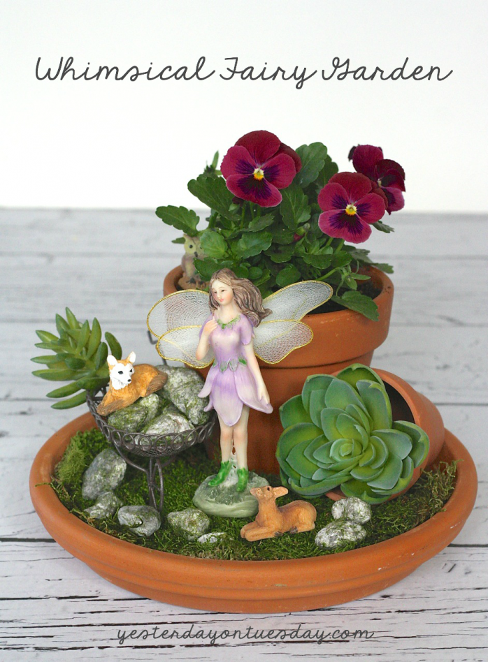 How to quickly create a lovely and whimsical DIY Fairy Garden