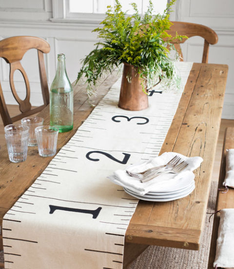 Ruler Table Runner