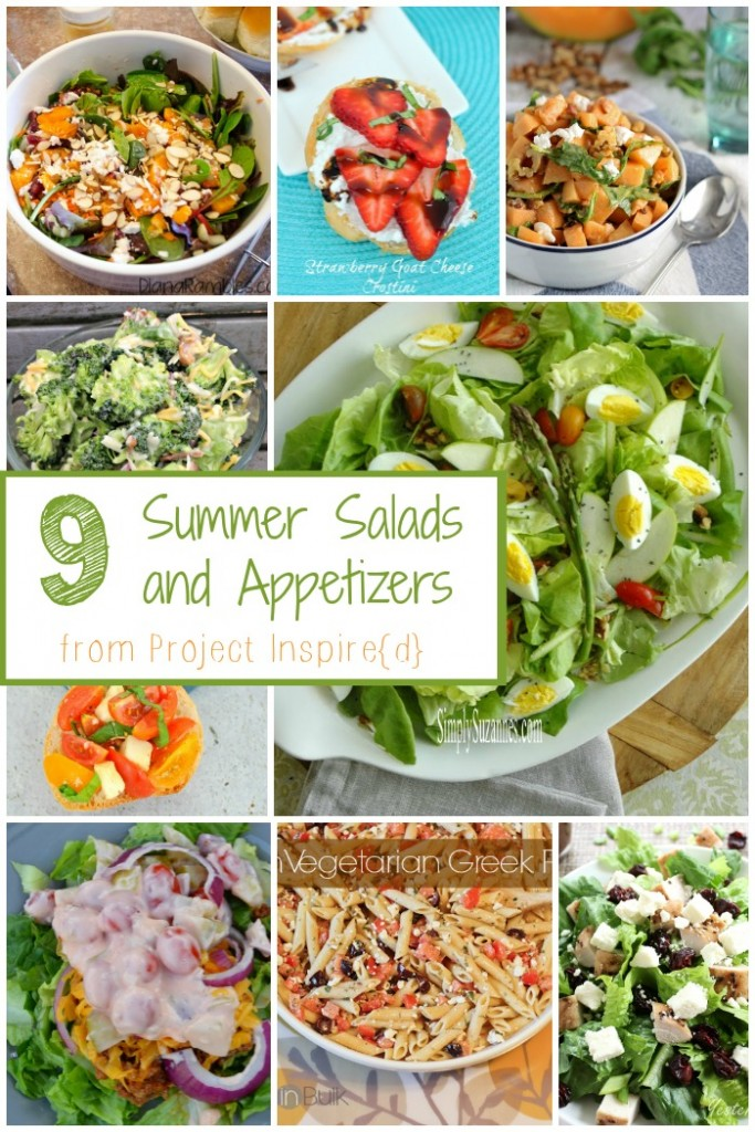 9 Summer Salad and Appetizer Ideas! Fresh summer recipes your family will love.
