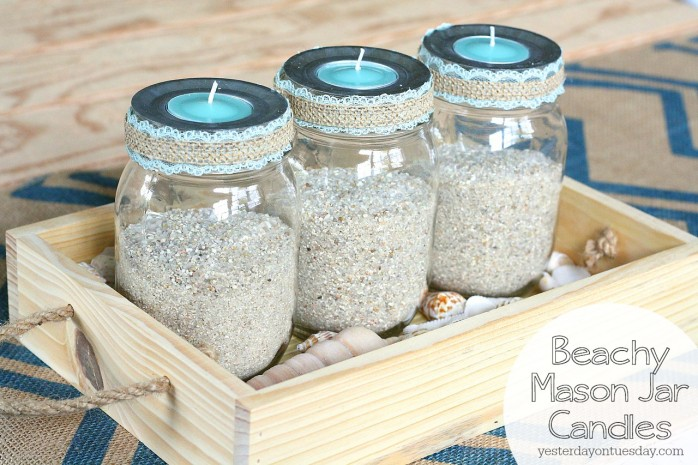 3 Beachy Mason Jar Candle Ideas Yesterday On Tuesday