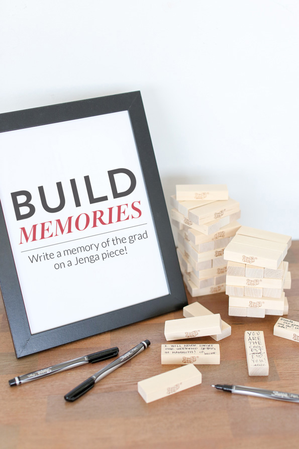 "How to Throw a Great Graduation Party with fun ideas like this ""Build Memories"" activity."