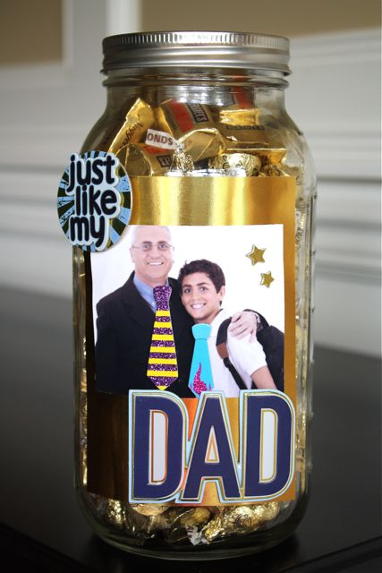 Dad Candy Mason Jar, a DIY Dad's Day Gift that kids can make.