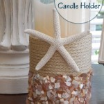DIY Seashell Candle Holder
