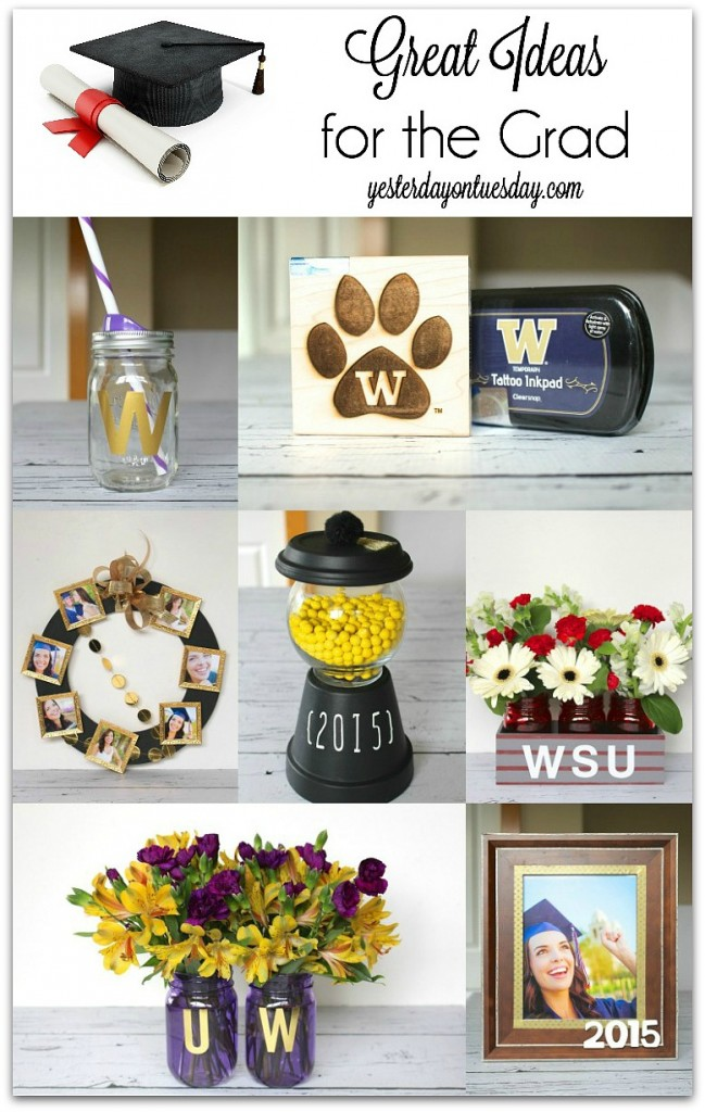 Great Ideas for the grad including gifts, party decor and more.