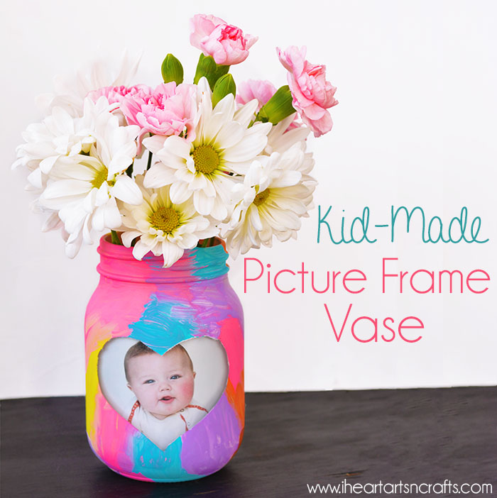 Kid Made Picture Frame Vase