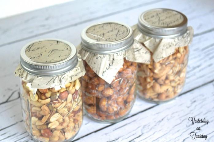 Mason Jars with Nuts