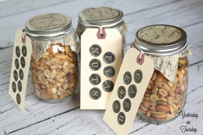 Mason Jars with Tags