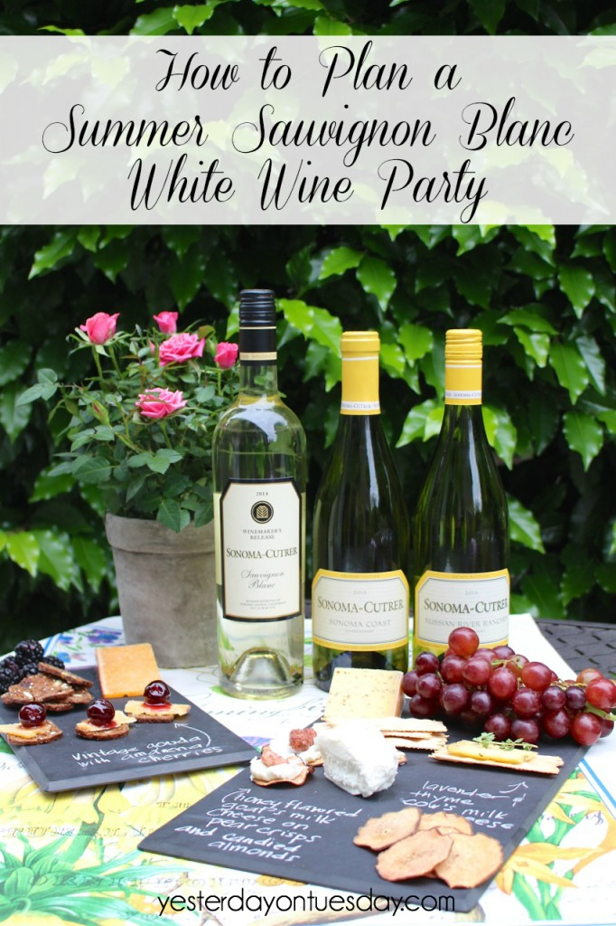 How to Plan a Summer Sauvignon Blanc White Wine Party