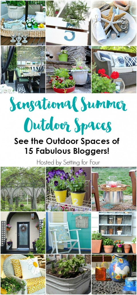 Sensational Summer Outdoor Spaces Blog Hop and Giveway, tons of great ideas to spruce up outside!