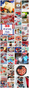 A ton of yummy 4th of July Treats, great for parties and barbecues!