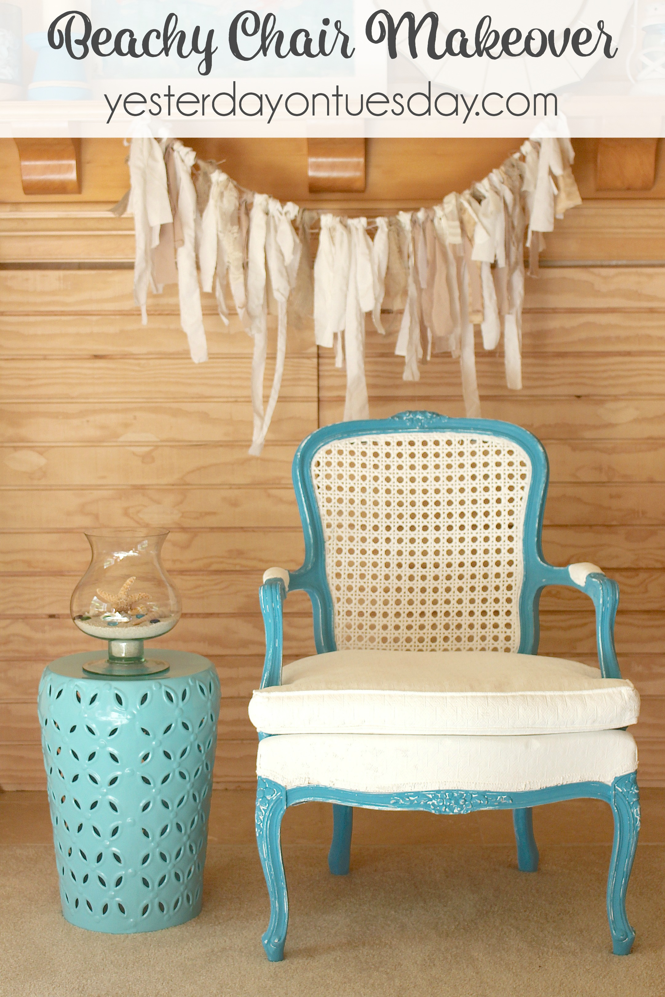 Beachy Chair Makeover