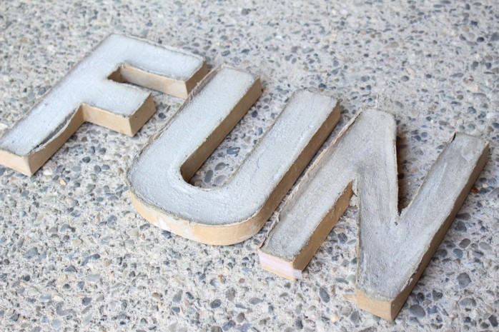 Create colorful FUN concrete letters with @decoart Patio Paint