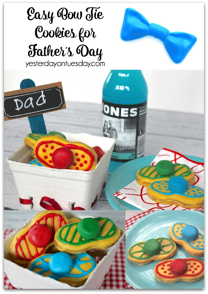 Easy Bow Tie Cookies for Father's Day