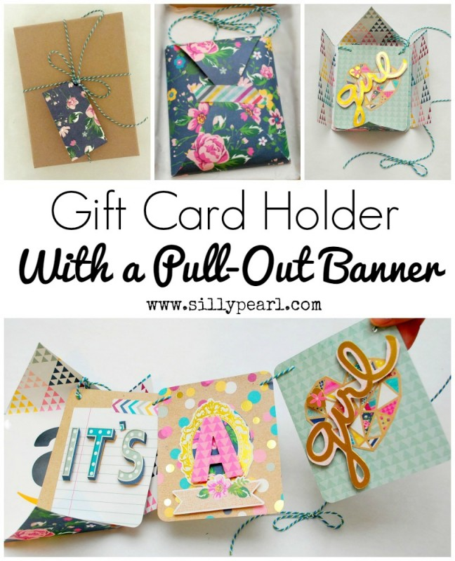Gift Card Holder with Pull Out Banner