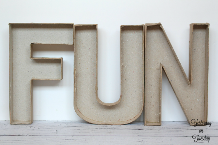 Create colorful FUN concrete letters with @decoart Patio PaintCreate colorful FUN concrete letters with @decoart Patio Paint