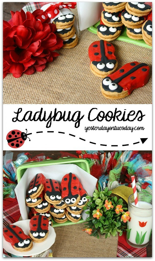 Cute Ladybug Cookies, perfect for a garden party or summer soiree
