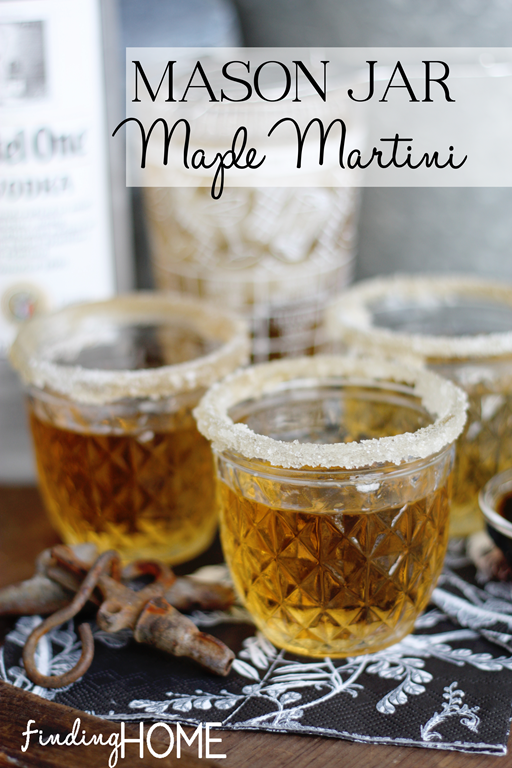 Mason Jar Maple Martini
