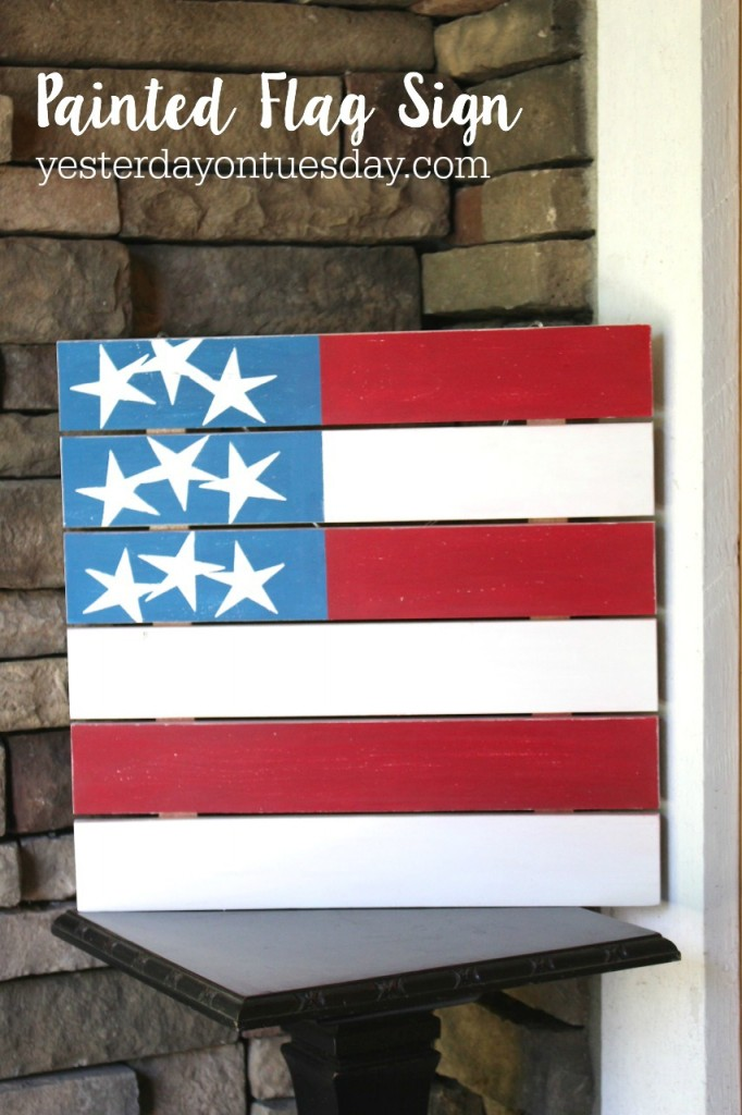 How to make a Painted Flag Sign