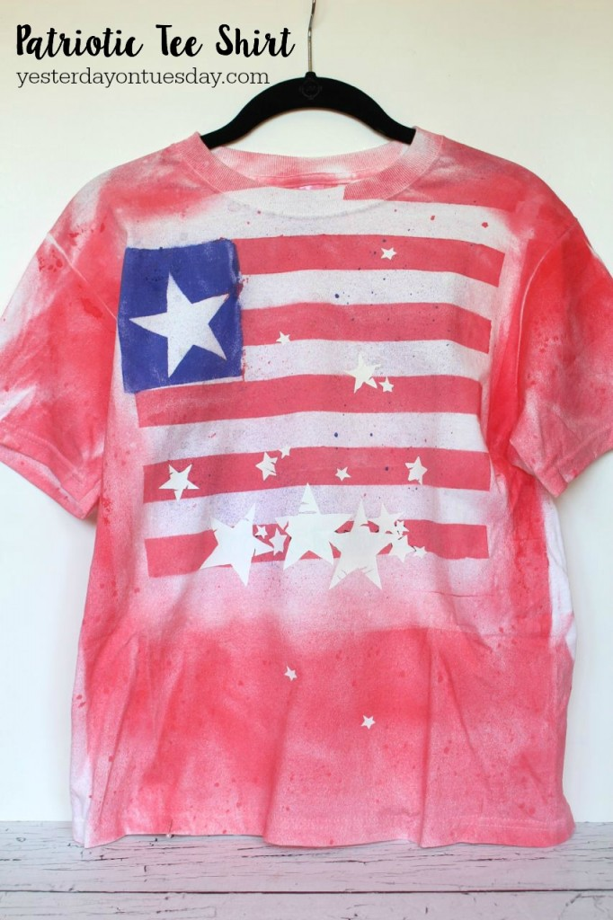 How to turn a plain white tee shirt into a Patriotic Tee Shirt