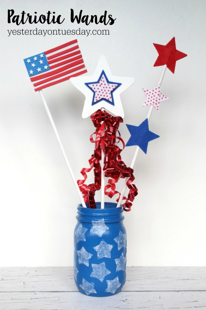 Patriotic Wand Crafts that kids can make.