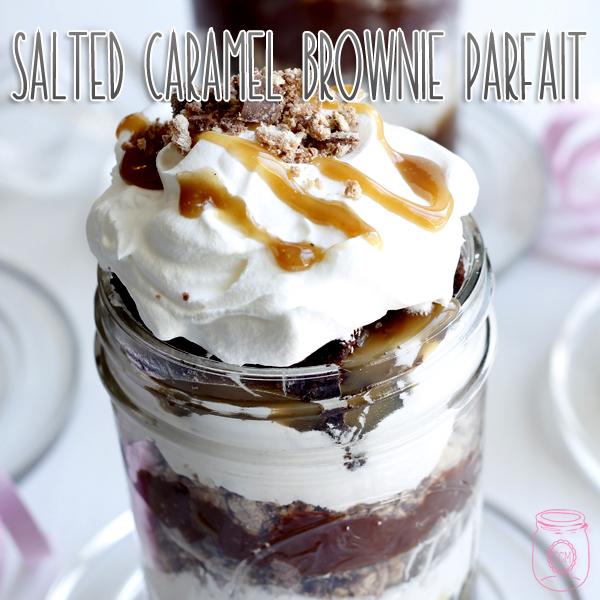 Salted Caramel Brownie Parfait