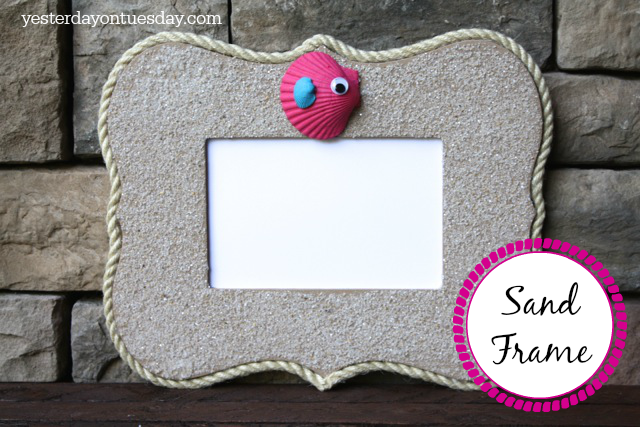 How to make a sand frame for summer photos