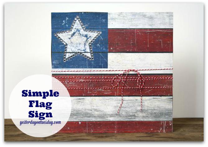 DIY Simple Flag Sign