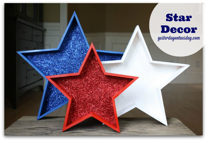 How to create Sparkly Star Decor.