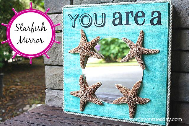 DIY Starfish Mirror