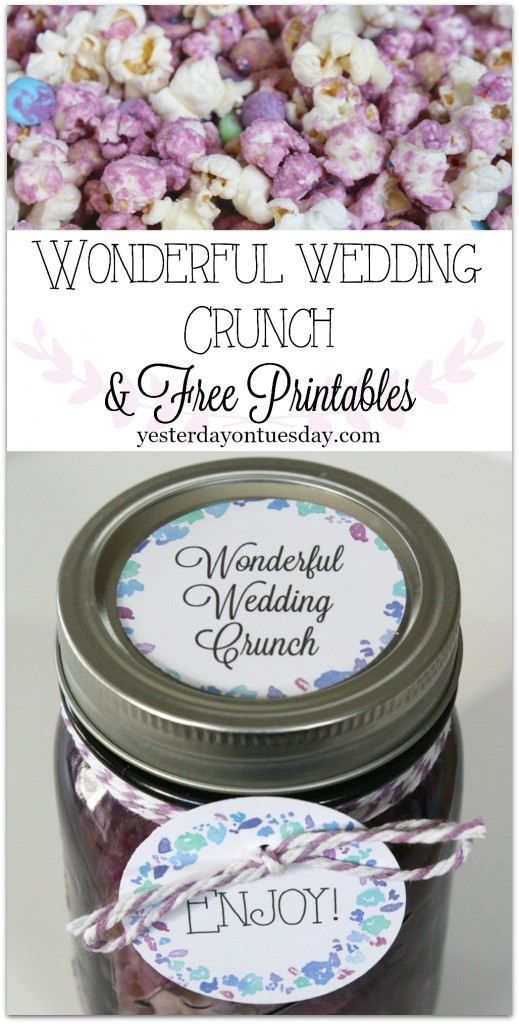 Wonderful Wedding Crunch in a Jar with free printables