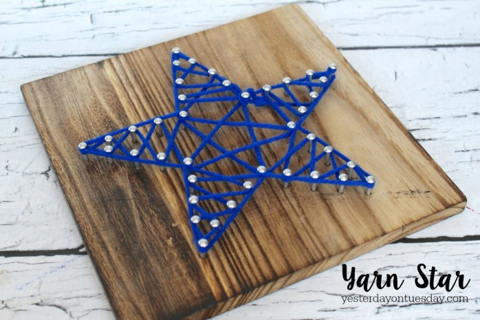 The secret to making a DIY Yarn Star