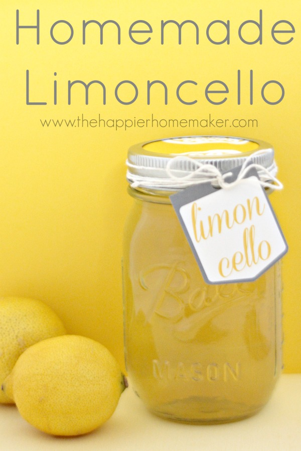 Homemade Limoncello from The Happier Homemaker