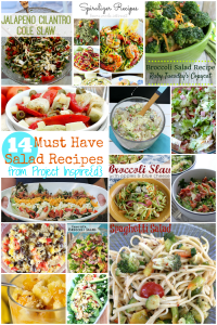 This is one to pin! A collection of must have salad recipes