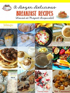 One to pin! A fabulous collection of a dozen delicious breakfast recipes from smoothies to oatmeal, croissants and casseroles, all shared at Project Inspire{d}