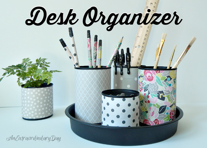 DIY Upcycled Desk Organizer