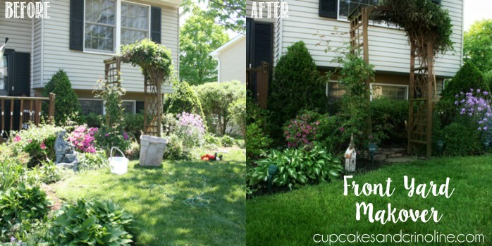 Front Yard Makeover from Cupcakes and Crinoline