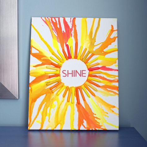 Melted Shine Crayon Art