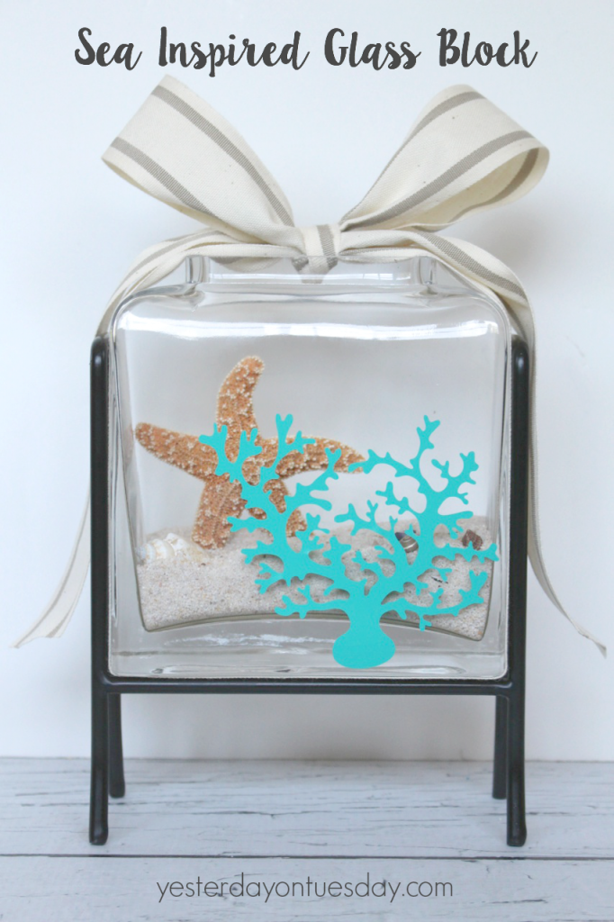 Easy Sea Inspired Glass Block
