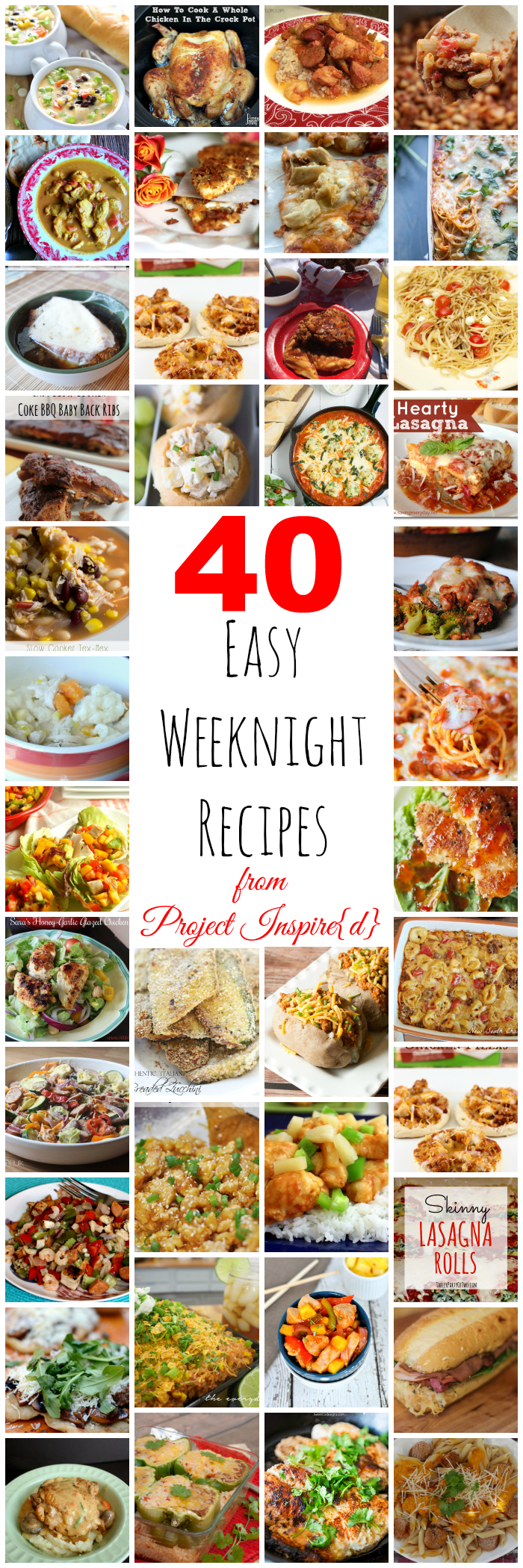 40 Easy Weeknight Meals
