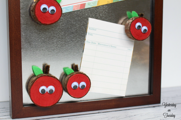 Wood Slice Apple Magnets Yesterday On Tuesday