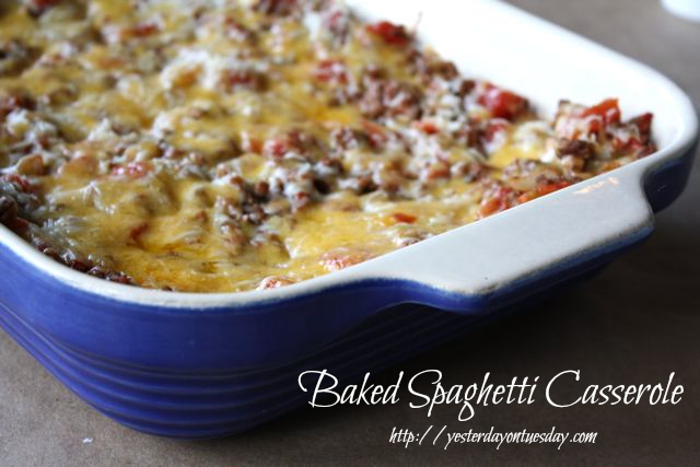 Crowd pleasing Baked Spaghetti Casserole Recipe