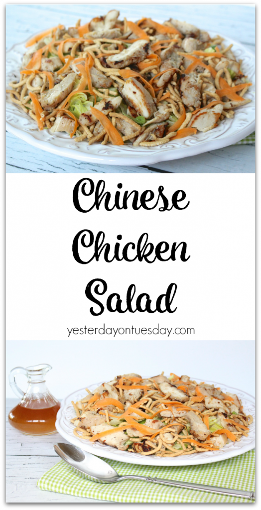 Fresh and delicious Chinese Chicken Salad Recipe and dressing
