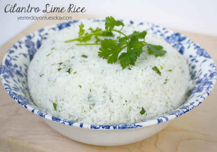 Upgrade plain rice with this delicious Cilantro Lime Rice Recipe... it's delicious!