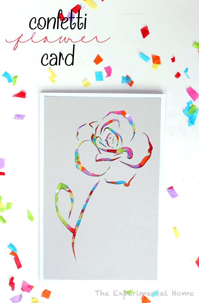 Confetti Flower Card