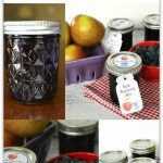 Yummy Apple-Blueberry Jam Recipe and printable tags and labels.