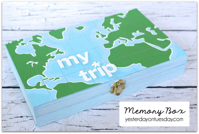 Transform a plain wooden box into a treasured memory box