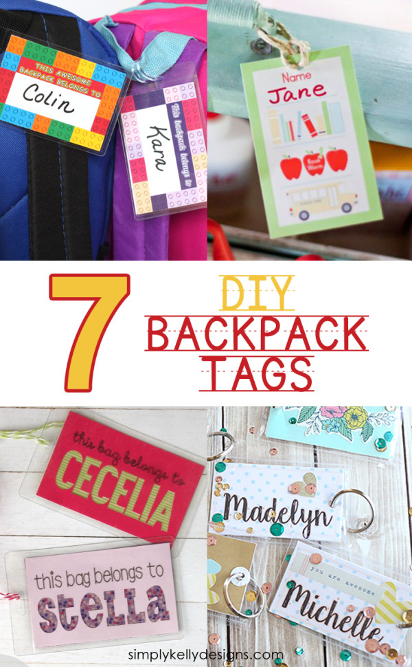 7 DIY Backpack Tags