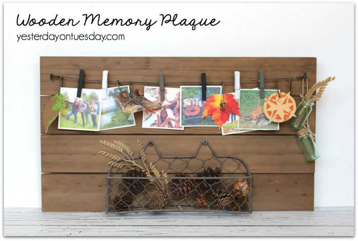 Preserve vacation memories with a customizable wooden plaque.