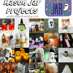 A collection of 25 Spooky Mason Jar Projects, perfect for Halloween decor, gifts and more!